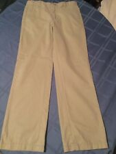 Boys Size 16 Husky Cherokee pants ultimate khaki flat front uniform pants