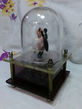 VINTAGE DANCING COUPLE ~ BALLERINA  ~ MUSIC BOX ~ Clean! Works!