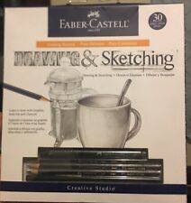 Faber Castell Drawing And Sketching 30 Piece Graphite India Ink And Charcoal