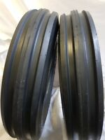 (2 TIRES + 2 TUBES) 6.50-16 8 PLY F2 3-Rib Farm Tractor Tires W/Tube 6.50x16