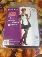 Parlor House Maid Halloween Costume XL 42-44 Complete 4 Piece Set Brand New