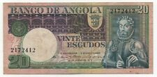 ANGOLA 20 ESCUDOS 1973 PICK 104 LOOK SCANS