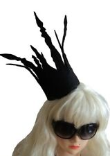 Halloween, black, gothic, lady gaga, crown, fancy dress
