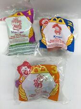 Muppets Kermit Gonzo Miss Piggy 1995 McDonald's Happy Meal Tub Toys NEW Set of 3