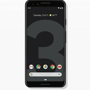 New Google Pixel 3  - 64 GB - Just Black 4G LTE (Unlocked)