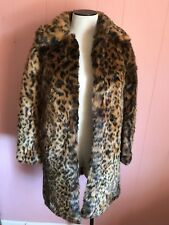 JCrew Collection Faux-Fur Leopard Coat XXXS 000 G9553 SOLD OUT NWT