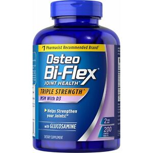 200 Osteo Bi-Flex Triple Strength Glucosamine MSM D3 EXP 01/2024 200 tablets