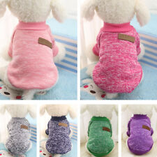 Cute Dog Winter Warm Sweater Small Pet Coat Clothes Puppy Cat Jacket Pink Black