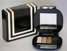 MAC Eyeshadow Palette Compact Stroke of Midnight 5 Shades NIB Double Ended Brush