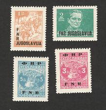 YUGOSLAVIA-MNH SET-DEFINITIVE-PARTISAN-TITO-OVERPRINT-1950.