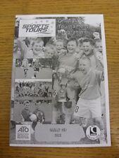 05/05/2012 Programme: Sports Tours - Canary Cup [At Lynn Grove School] U7-U14 &