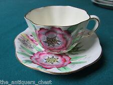 1940s  Vintage teacup  saucer Bone China Taylor Kent Longton England 6786A[*109]