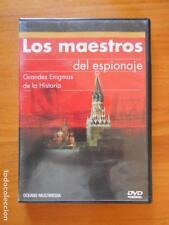 DVD LOS MAESTROS DEL ESPIONAJE - GRANDES ENIGMAS DE LA HISTORIA (2Q)