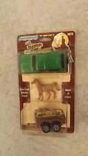 Vtg Tootsie Toy 2875 Rodeo Cowboy Ford Bronce XLS w/ Horse & Trailer NIP 1981