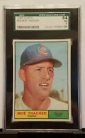 MOE THACKER - 1961 TOPPS  SET BREAK  #  12 / SGC GRADED NM 7 / CHICAGO  CUBS