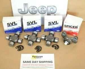 Jeep CJ TJ YJ XJ Front Driveline Driveshaft 1310 U-Joint And CV Rebuild Kit