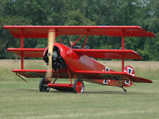 Giant 1/4 Scale German WW-I Fokker DR-1 Triplane Plans and Templates 72ws