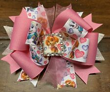 Paw Patrol Stacked Boutique Hair Bow Girl Clip Disney Dog Pink Heart