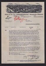 WIESBADEN-BIEBRICH, Brief 1932, CELLOPHAN-Lichtpauspapier KALLE & Co. A.-G.