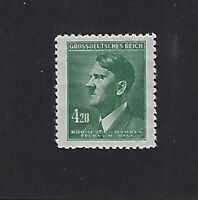 MNH postage Stamp  Adolph Hitler  4.20 Kr  WWII  Occupied B a M 1944 Third Reich