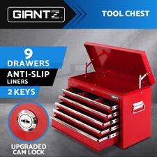 Giantz Tool Chest Cabinet Box 9 Drawers Toolbox Storage Garage Organiser Boxes