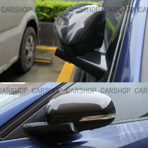 Real Carbon Fiber Side Mirror Cover Cap Add On For Jaguar XE XK XF XJ XKR 12-18