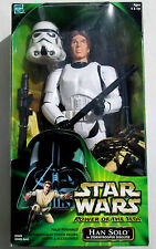 "STAR WARS Power of the Jedi_HAN SOLO in STORMTROOPER Disguise 12"" figure_New_MIB"