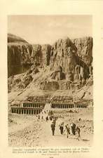 1920 Egypt Colossus Memnon Temple God Ammon Thebes