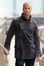 "Andres Velasco Dark Grey Kiev Suede Leather Jacket MSRP $249.00 ""Medium/Large"""