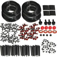 92m Micro Automatic Drip Irrigation System Plant Garden Lawn Sprinklers  .-