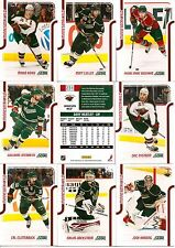 2011-12 Panini Score Glossy Minnesota Wild Complete Master Team Set (15)