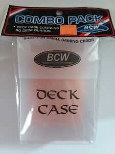BCW Combo Pack Gaming Deck Guards/Case w/ 50 Guards Copper NIP