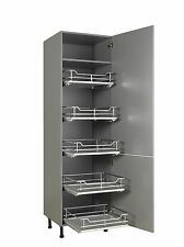 800mm Tall Pull out X5 Individual Baskets Softclosing Chrome/grey Solid Base Set