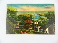 Vintage Postcard 958 River From Barclay Heights Saugerties NY
