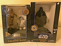 VINTAGE STAR WARS ELECTRONIC TALKING BANKS - DARTH VADER & R2D2 AND C-3PO - MINT