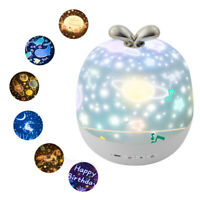 LED Night Light Starry Projection Baby Children's Star Bedroom Beautiful Starry