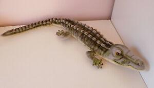 "Hansa Realistic Salt Water Crocodile Alligator Green Soft Plush Stuffed Toy 26"""