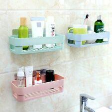 Storage Rack Wall Maunted Kitchen Bathroom Strong Suction Shower Shelf Holder