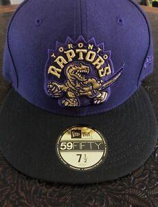 Toronto Raptors New Era Fitted Hat - 7 1/2 - NBA Hardwood Classics