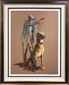 "LeRoy Neiman ""Great Dane"" Framed Hand Signed Serigraph RARE! Dog Trainer"