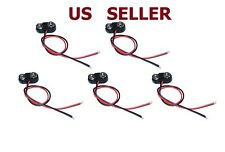 US SHIP 5Pcs DC 9V SNAP ON BATTERY CLIP CONNECTOR T Type