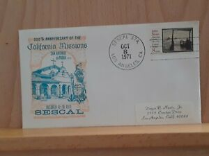 8 Oct 1971, Cachet, 200th Anniversary of California Missions
