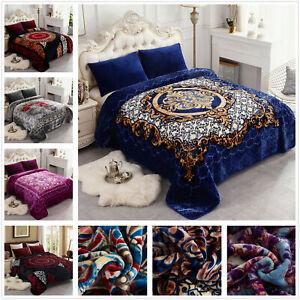 Crystal Velvet Plush Mink Blanket Korean Style Printed Heavy Blanket K//Q