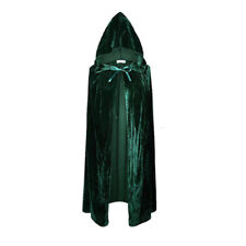 Adult Satin Hood Cape Carnival Witch Cloak Mantle Wicca Halloween  Cosplay Party