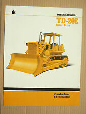 Prospectus IH INTERNATIONAL Crawler Dozer TD20E  MAC CORMICK tractor Brochure TP
