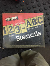 """Lot of 140 Vintage 1"""" CH Hanson Company Letters and Numbers Stencil Set"""