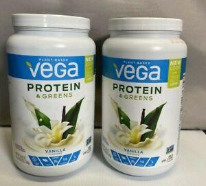 Vega Protein and Greens, Vanilla, Plant Based Protein Powder Plus Veggies-2 qty