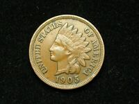 NEW INVENTORY!! XF 1905 INDIAN HEAD CENT PENNY w/ DIAMONDS & FULL LIBERTY #53x