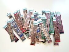 Bulk Set of 100 Miniature Woven Carpet Bookmarks, Kilim Tapestry Turkish Greek