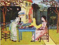 "~Post Card~""Two Victorian Girls...Outside Enjoying Tea""  (B445)"